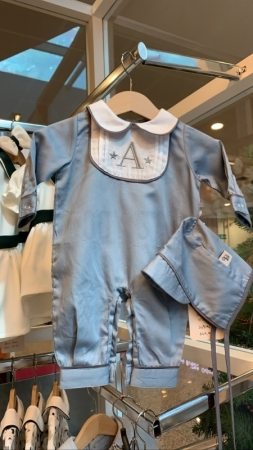 W/Special Charles Romper Blue
